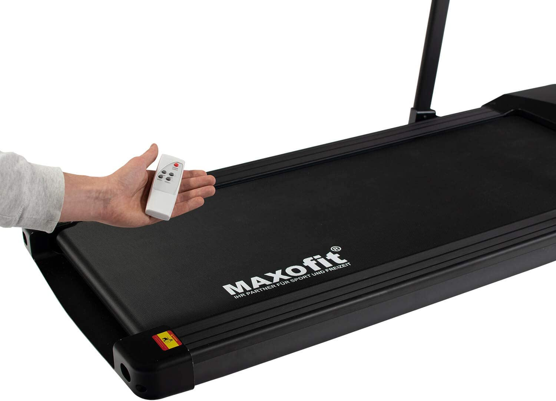 platzsparend und elektrisch mit Fernbedienung perfekt f/ür Zuhause und B/üro MAXOfit Mini Laufband MF-27 in schwarz mit klappbarem Haltegriff