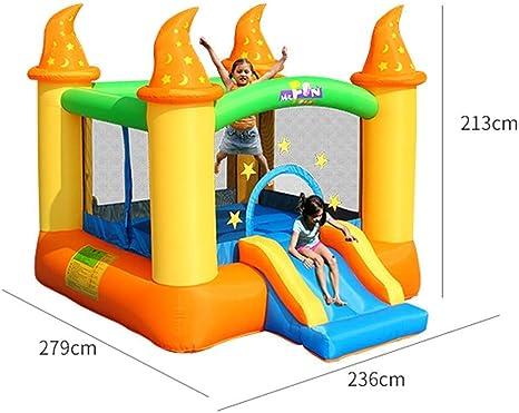 Mnjin Interesante Castillos hinchables Toboganes inflables para niños Juguetes para niños Parque de Atracciones al Aire Libre Castillo Inflable Jardín de Infantes Trampolín para niños Trampolín in: Amazon.es: Deportes y aire libre