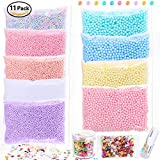 #10: POLMMYS Foam Beads for Slime and Soft Clay, including Chocolate Pieces, Fruit Slices for DIY Slime Making, Homemade Art Craft, Girl Slime Party (11 Pack)