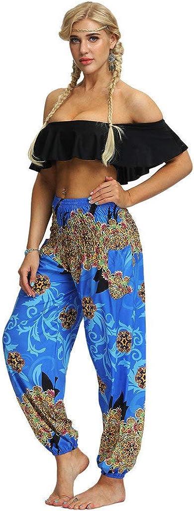 Innerternet Femmes Casual Pantalons De Yoga en Vrac Hippy Baggy Boho Aladdin Pants Taille Haute Chic Pantalon Large Sarouel /ét/é Bouffant Workout Out Leggings Harem Pantacourt
