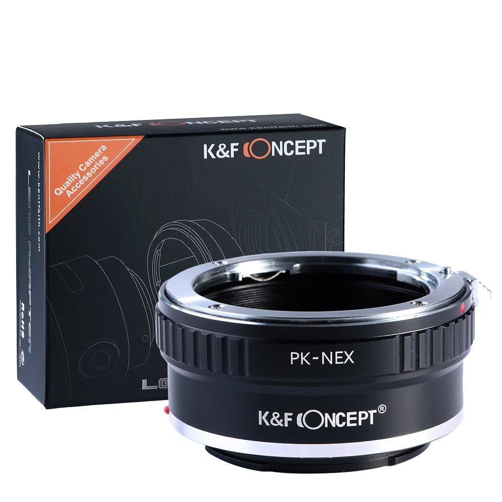 K&F Concept Lens Mount Adapter for Pentax PK K Mount Lens to Sony NEX E-Mount Camera Body, fits Sony NEX-3 NEX-3C NEX-3N NEX-5 NEX-5C NEX-5N NEX-5R NEX-5T NEX-6 NEX-7 NEX-F3 NEX-VG10 VG20 by K&F Concept