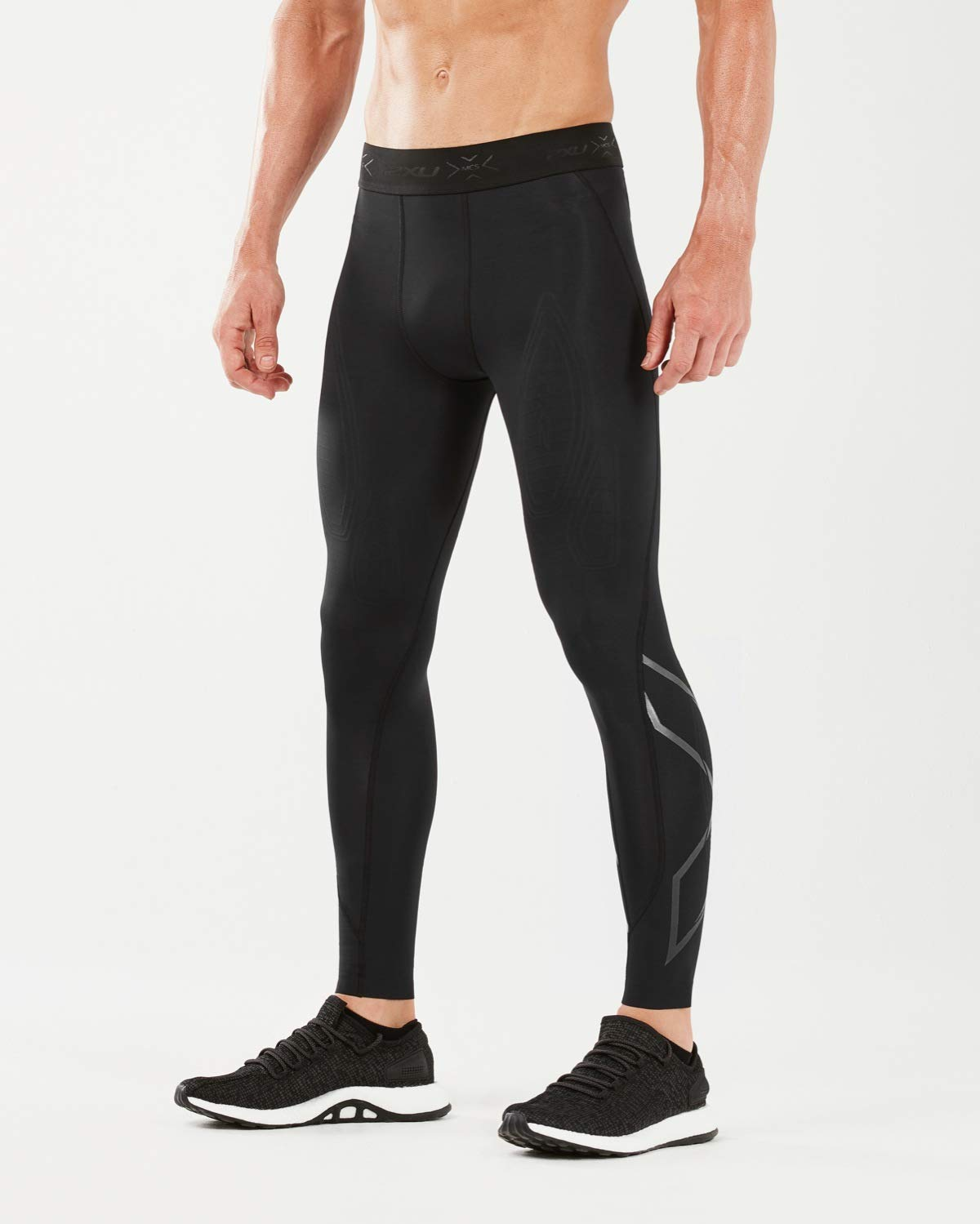 2XU MCS x Training Comp Tights, Black/Nero, Medium by 2XU (Image #1)