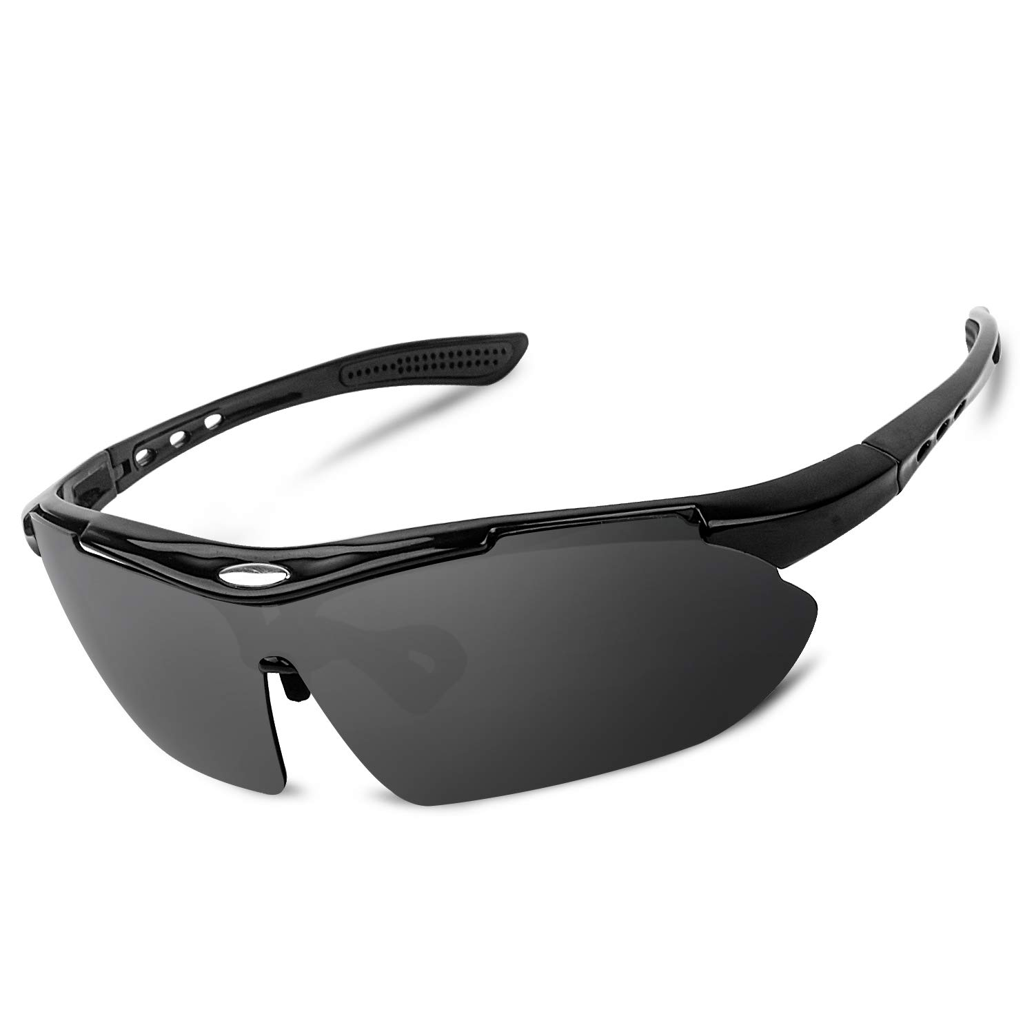 GGBuy Polarized Sport Sunglasses 100 UV Protection Anti-Glare Lightweight Frame Glasses for Women Men Outdoor Active Cycling Running Driving Riding Fishing