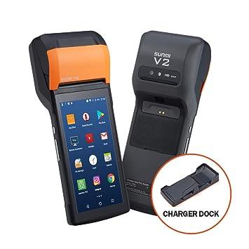 MUNBYN Sunmi-V2 PDA Android Comercial con Impresora de Etiqueta Térmica 58 mm, Lector de Código de Barras de Lente Honeywell 1D/ 2D Handhelp 5.45 ...