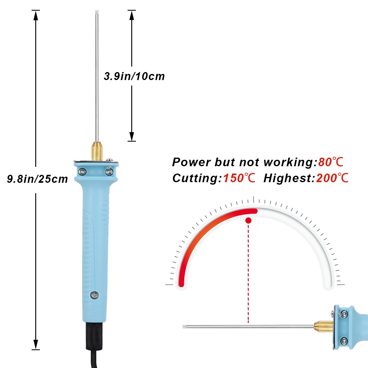 "Amazon.com: 4"" Hot Wire Foam Cutter Tools Kit/Styrofoam Cutting Knife Pen  for Polyethylene EVA EPS Foam Carving/Model Making/DIY Handicraft."