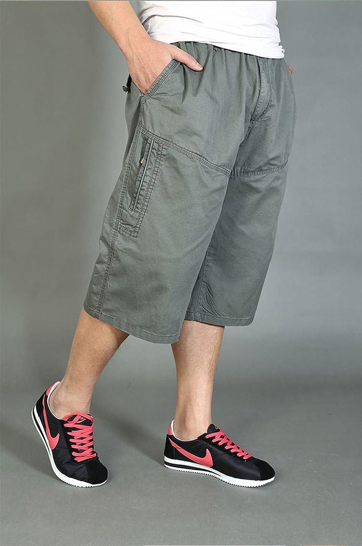 DQQ Men's Elastic Waist Loose Fit 3/4 Cargo Shorts: Amazon.co.uk: Clothing
