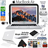 6Ave Apple 13.3'' MacBook Air 256GB SSD + Apple Magic Mouse 2 + Plastic Hard Case & Keyboard Cover (Clear) + 1-Year Extended Warranty Bundle