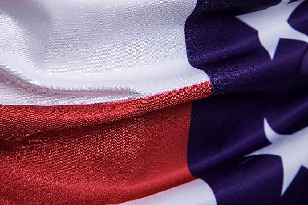 National Flag Shirt for Men!Mens Casual Slim Short Sleeve American Flag Printed Shirt Top Blouse