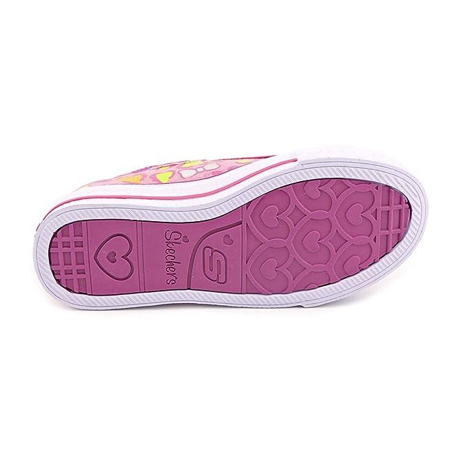 Skechers baskets twinkle toes 10403L mädchenschuhe hot pink