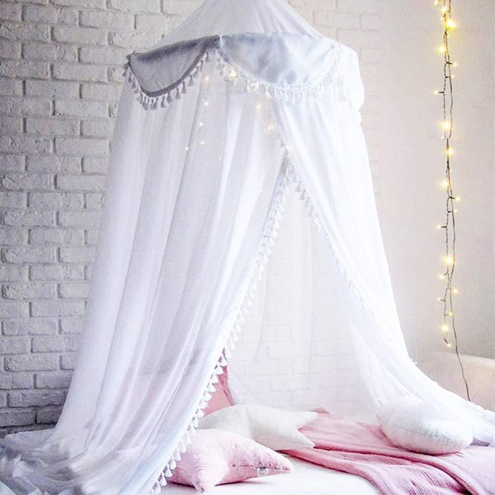 Kinder Spitze Quaste Baldachin Bed Dome Hängen Moskitonetz Vorhang