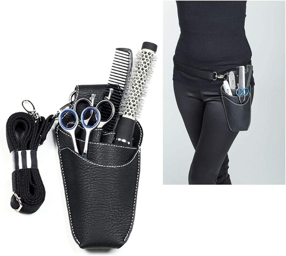 Funda porta herramientas profesional para peluquería y barbería, riñonera para tijeras, etc.: Amazon.es: Belleza