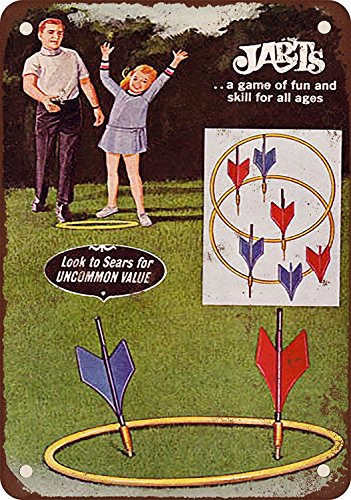 1969 Jarts Lawn Darts Game Vintage Look Reproduction Metal Tin Sign 12X18 (Lawn Darts)