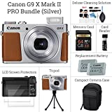 Canon PowerShot G9 X Mark II SNAP MORE Digital Camera BUNDLE: Canon G9 X Mark II (Silver) + 64GB Memory Card + Card Reader + Screen Protectors + Tripod + Case + Replacement Battery - DigitalAndMORE!