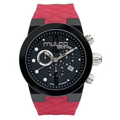 MULCO Unisex Couture Analog Display Swiss Quartz Watch – Silicone Band Multifunctional Stainless Steel