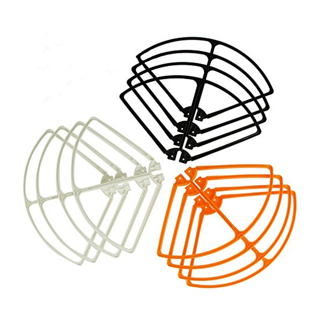 Coolplay® Syma X8 X8C X8W X8G Props Protective Frame Guard Spare Parts for RC Quadcopter ( 4 X black,4 X orange,4 X white) ASSMX8C234