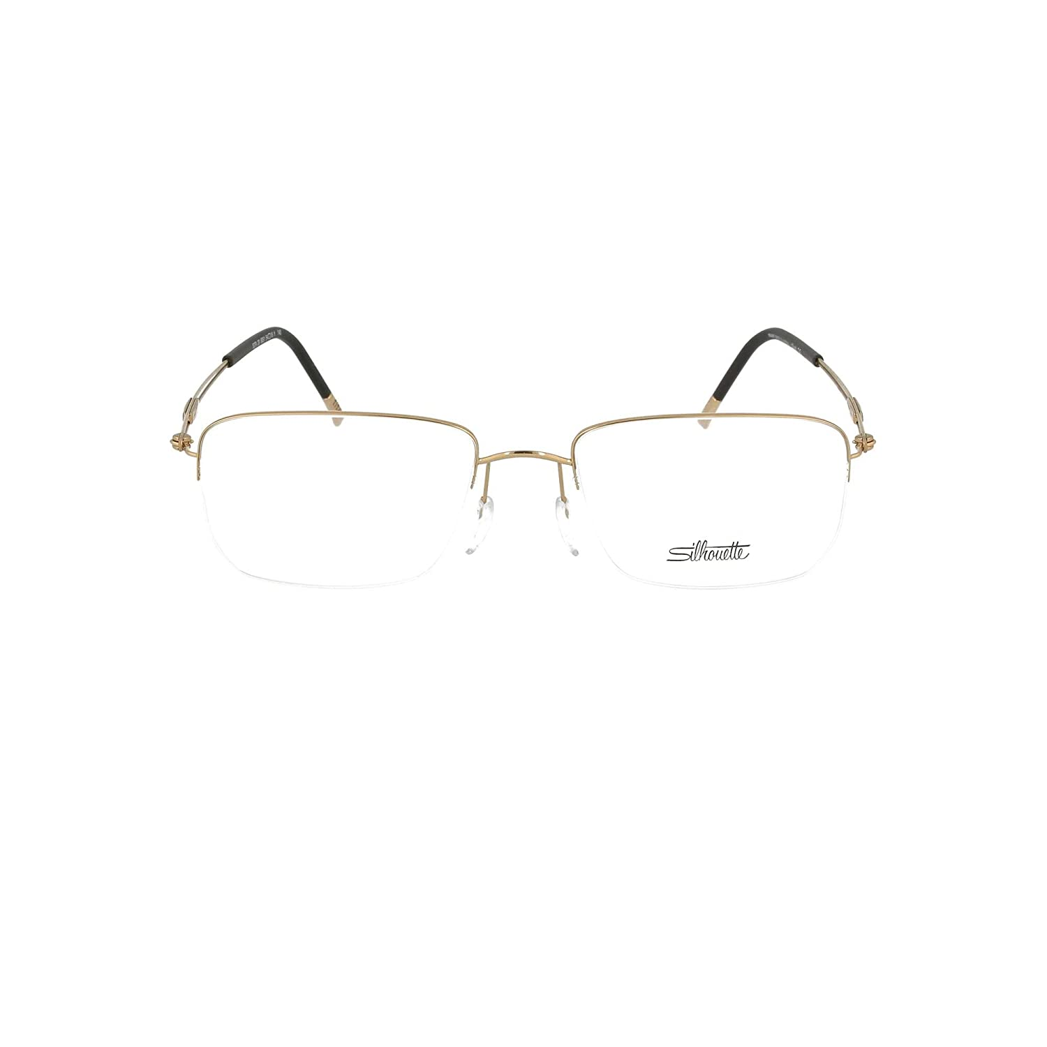 8c89d9f8fda Amazon.com  Silhouette Eyeglasses TNG Nylor 5279 6051 Gold Black Optical Frame  54-18-140mm  Clothing