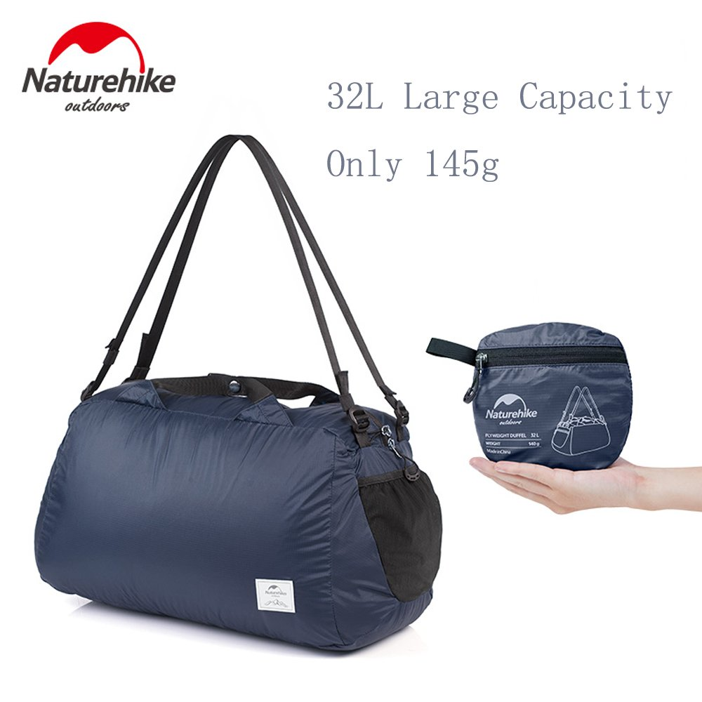 Naturehike 32L Duffel Bag Ultralight Folding Bags Waterproof for Travel Business Camping or Daily Use and other Outdoor Activities (Navy)