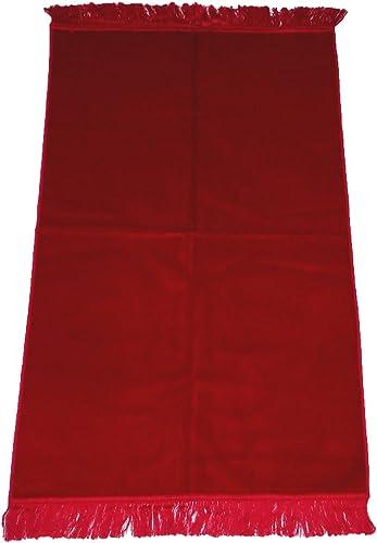AYDIN Turkish Prayer Rug Luxery Islamic Muslim Velvet Sajadah Sajjadah Carpet No Designs No Pattern