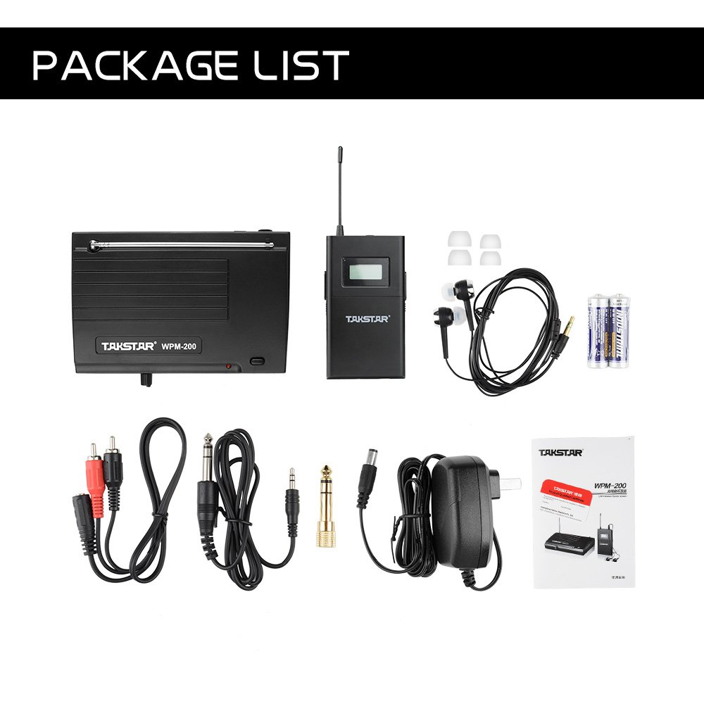 Takstar WPM-200 In Ear Stage UHF Wireless Monitor System for studio recording/on-stage monitoring (1 transmitter and 1 receiver) by TAKSTAR (Image #8)