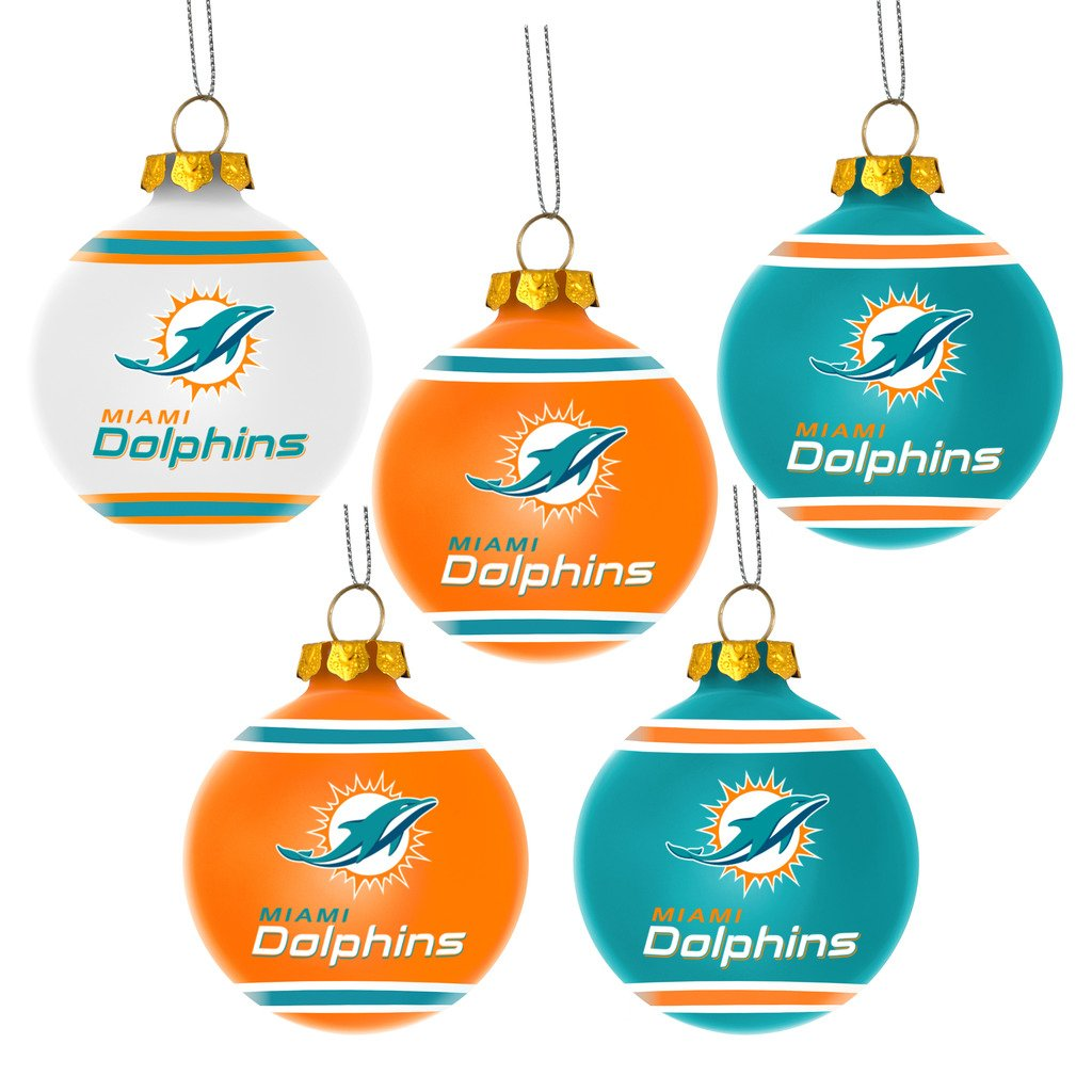 FOCO NFL Team Holiday Shatterproof Ball Ornament Pack of 5