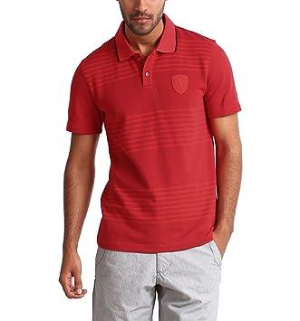 Puma Ferrari Men s Polo Camiseta (566271), Rosso Corsa, large ...