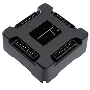 DJI Mavic Pro 4 en 1 eje de cargador de batería rápida, UNIKEL Smart Multi cargador de batería con carga LED Indicador de pantalla
