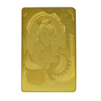 Amazoncom Ratnatraya Bal Gopal Krishna Good Luck Gold Card