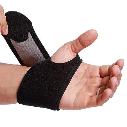 Muñequera ancha de sujeción (1 UNIDAD) - Ligera, elástica y transpirable - Para aliviar los músculos - Compresión ajustable - Marca Neotech Care - ...