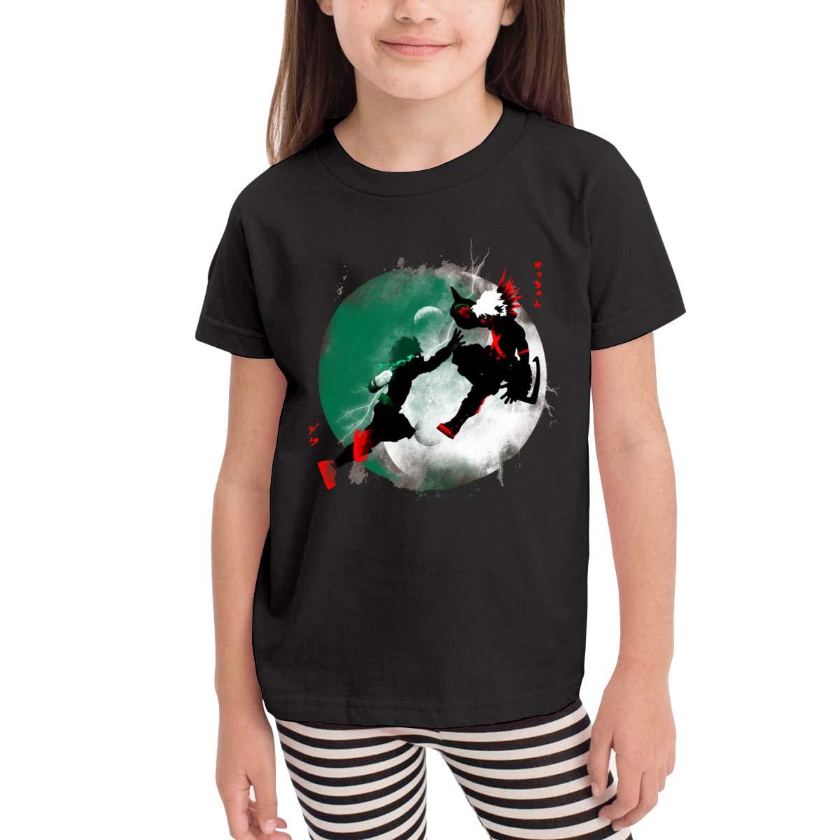 SuperLee Childrens My Hero Academia Comfort Short Sleeve T-Shirt Black