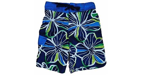 9e6534bedc Amazon.com: Joe Boxer Boys Navy Tropical Hawaiian Swim Trunks Board Shorts  4: Clothing