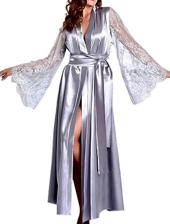 Women Luxury Long Smooth Silk Robe Robe with Elegant Bridal Wear Bridesmaid Wedding kimono High-quality Lingeries #MK 603