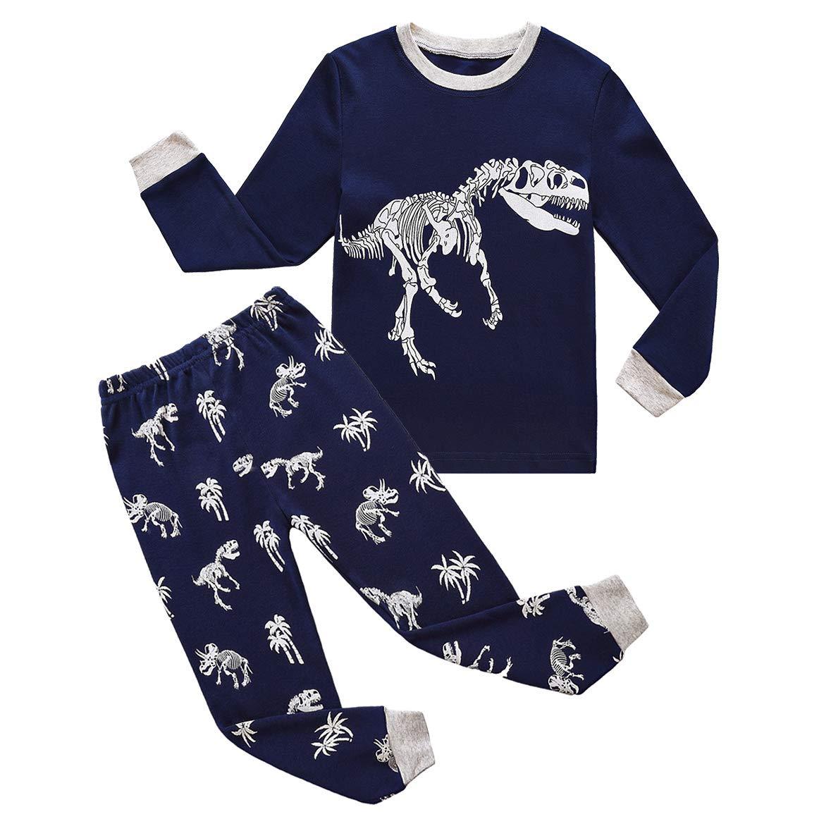 RKOIAN Little Boys Pajamas Sets Toddler Pjs 100% Cotton Kids Sleepwears