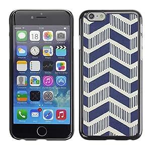 [Neutron-Star] Snap-on Series Teléfono Carcasa Funda Case Caso para Apple (4.7 inches!!!) iPhone 6 / 6S [Modelo del art déco del vintage de Chevron Wallpaper]