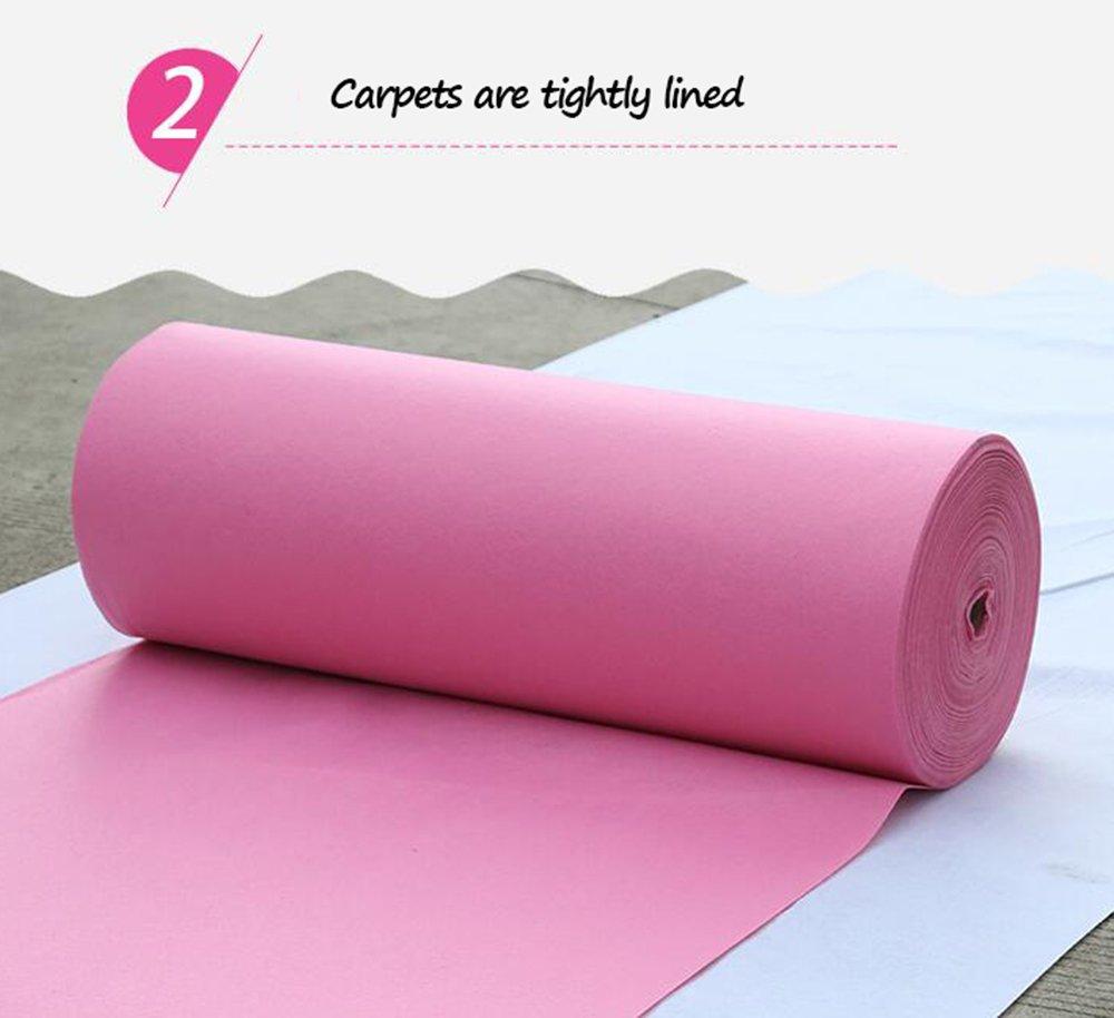 Amazon.com: Pink 1.5mm wedding disposable carpet/opening ...