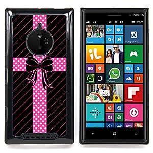 Stuss Case / Funda Carcasa protectora - Modelo de punto Pajarita Líneas regalo - Nokia Lumia 830