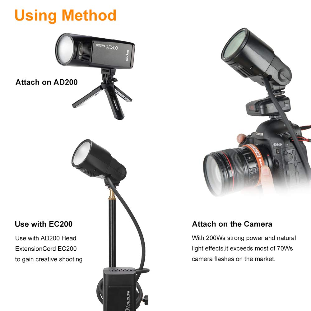 Godox H200R Ring Flash Head for AD200, 200ws Strong Power and Natural Light Effects for GodoxAD200 Pocket Flash,LightandPortable by Godox (Image #6)