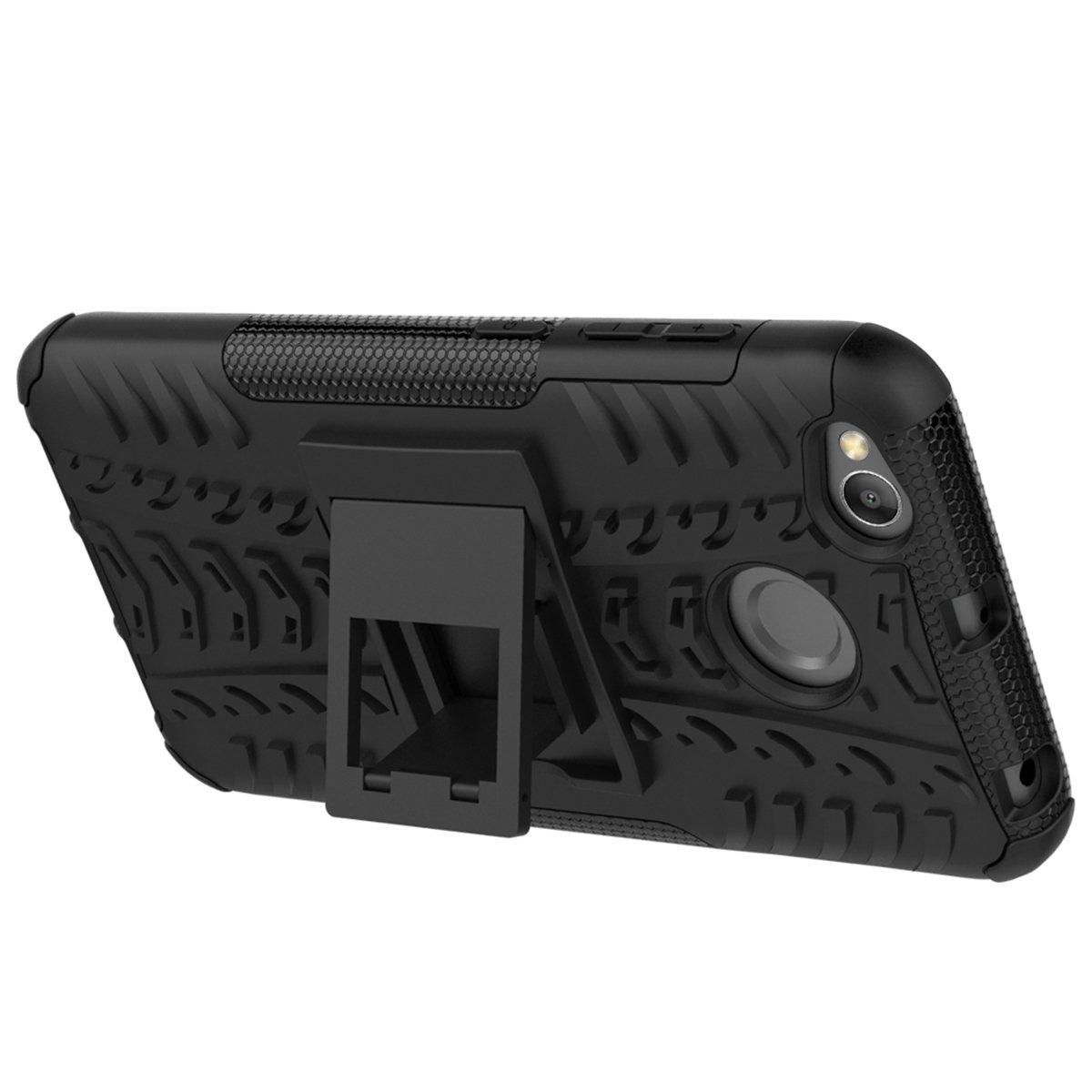 FindaGift Doble capa 2 en 1 Soft TPU Verde Anti-rasgu/ños PC dura Armadura Cover Antichoque Protecci/ón completa del cuerpo Xiaomi Redmi 4X Funda Bumper Back Case con Kickstand para Xiaomi Redmi 4X