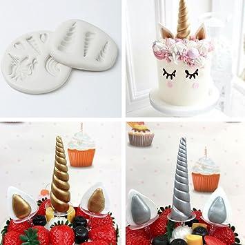 2 Set Niedliche Einhorn 3d Silikon Fondant Kuchen Form Schokolade