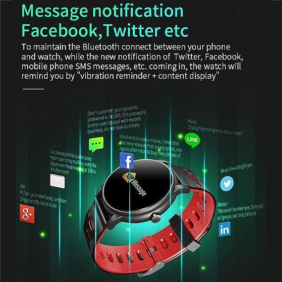 Amazon com : PEI XIA-SB Intelligence Watch Multi-Sport Modes IP68