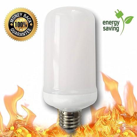 Simulación de LED efecto llama fuego luz bombilla, ovisen creativas luces bombillas E26 con parpadeo