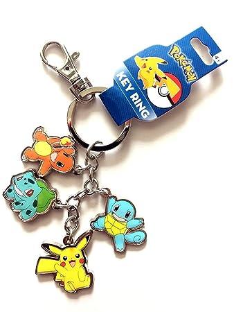 Amazon Com Pokemon Keychain Pikachu Charmander Bulbasaur Squirtle