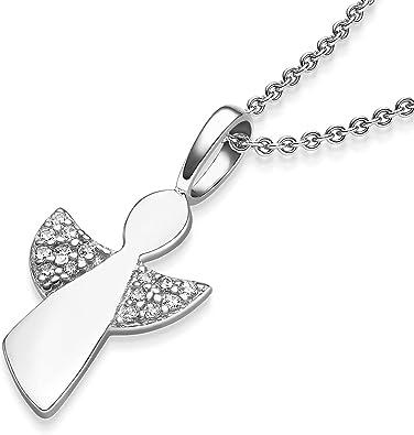 Süße Engelkette Mädchen In Silber 925 Mit Zirkonia Kommunion Geschenk Schutzengel Taufe Konfirmation Schmuck Geschenk Patentante Mit Gratis Etui