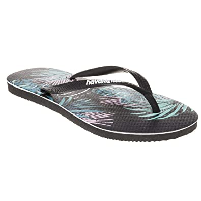 166a95faf56 Havaianas Slim Tropical Sandals Black: Amazon.co.uk: Shoes & Bags