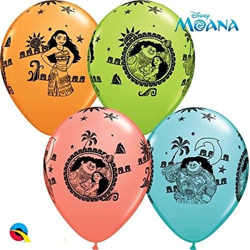 Globos de látex de Qualatex, con diseño de Vaiana y Maui, de ...
