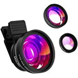 Phone Camera Lens, ZOETOUCH 2 in 1 Cell Phone Camera Lens Kit with 0.45X Super Wide Angle Lens & 12.5X Macro Lens for iPhone, Pixel, Samsung Galaxy, etc Most Smartphone