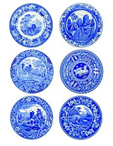 """Blue Room 11.5"""" Traditions Plate Set (Set of 6)"""