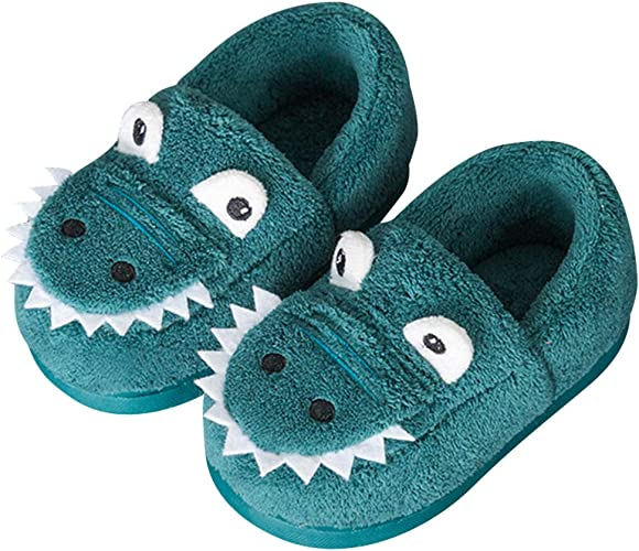Kids Winter Warm Fur Lined Shoes Children Girls Boys Comfy Cotton Home Slippers