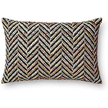 22 x 22 Cover W//Down Loloi DSET Orange Decorative Accent Pillow