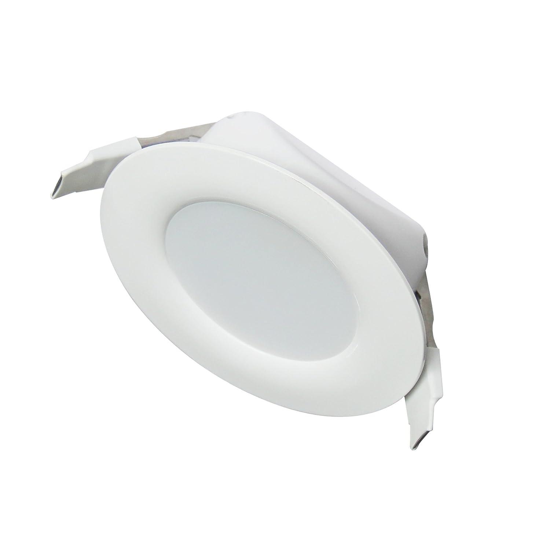 Ultra flach led einbaustrahler ip44 auch für das bad geeignet warmweiß 4w 230v rahmen