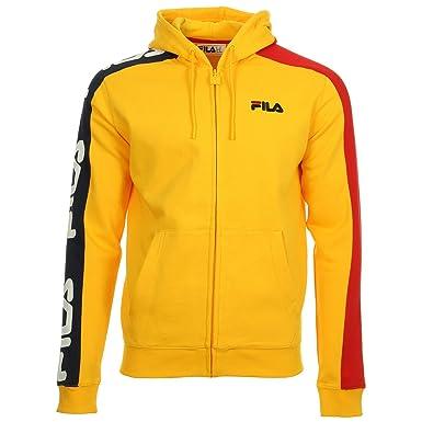 a9a335f263fc Fila 684340 Stan Cut and Sew Hoodie Sweat Men Lemon L  Amazon.co.uk   Clothing